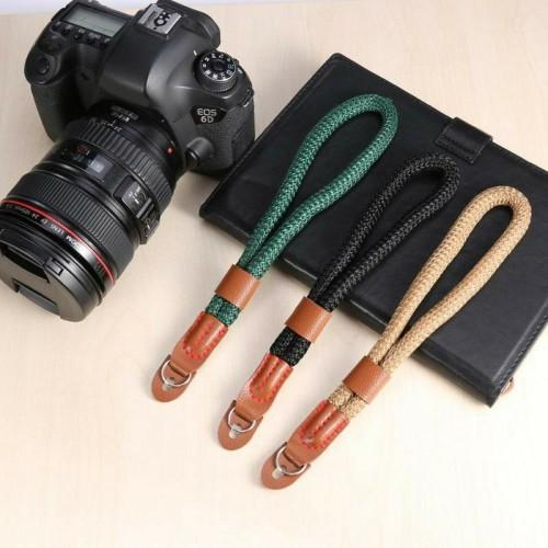 Cinturino da polso per macchina fotografica in cuoio universale canon nikon fuji