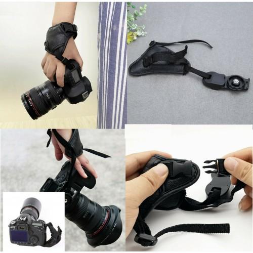 Cinturino da polso per macchina fotografica in pelle universale canon nikon Fuji