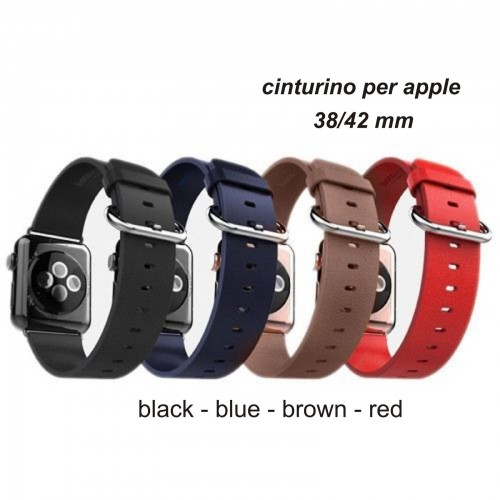 Cinturino in pelle BRACCIALETTO SPORT BAND Ricambio per Apple Watch 38/42 mm