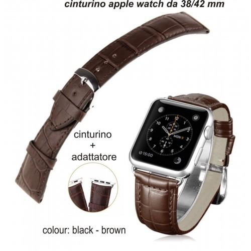Cinturino in pelle BRACCIALETTO SPORT BAND + adattatore per Apple Watch 38/42 mm