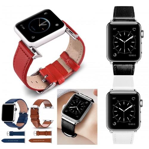 Cinturino in pelle FASHION BRACCIALETTO BAND Ricambio per Apple Watch 38 / 42 mm