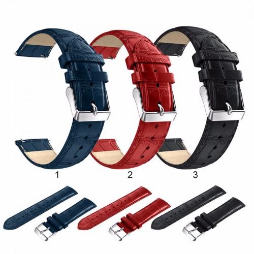 Cinturino pelle 22mm ricambio per smart Watch Samsung S3 Gear Classic & frontier