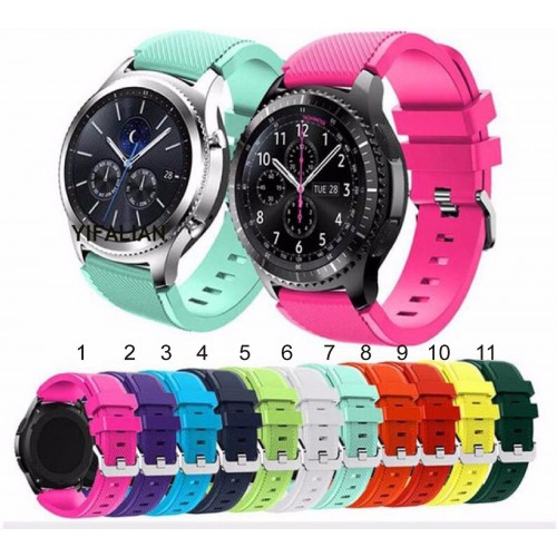 Cinturino silicone 22mm Ricambio smart Watch Samsung S3 Gear Classic & frontier