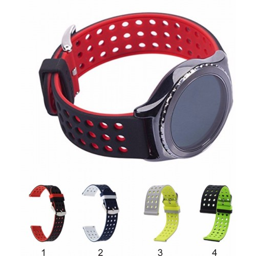 Cinturino silicone 22mm doubleface smart Watch Samsung S3 Gear Classic/frontier