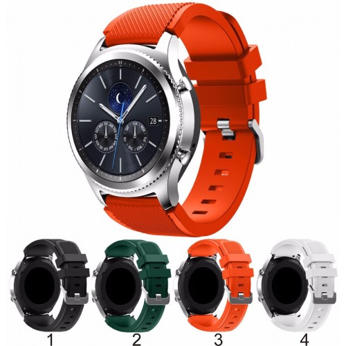 Cinturino silicone 22mm sport per smart Watch Samsung S3 Gear Classic & frontier