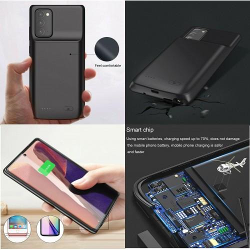 Cover Batteria per Samsung Note 20 5G 6000 mah powerbank Ricaricabile