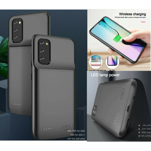 Cover Batteria per Samsung S20 4800mAh powerbank Ricaricabile Custodia nera