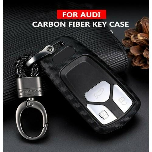 Cover Chiave in fibra di carbonio Per Audi A4 S4 B7 B8 A6 A5 A7 A8 Q5 s5 S6 Q7