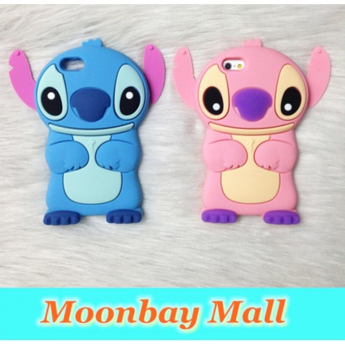 Cover Custodia Case silicone cartoon stitch rose 3D per Samsung Galaxy S4 mini
