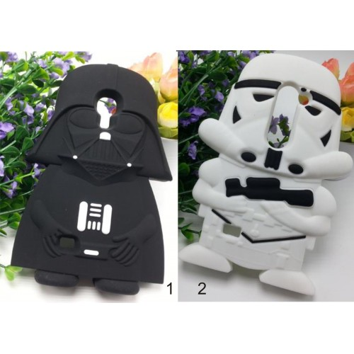Cover Custodia Case silicone fumetti star wars 3D per Samsung Galaxy S4 mini