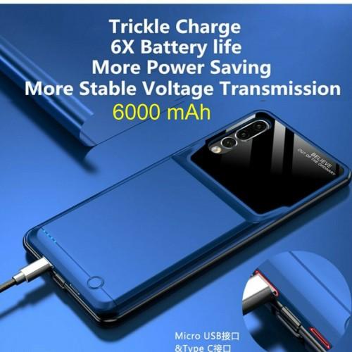 Cover batteria antiurto caricabatteria 6000 mAh per Huawei Honor 9X & 9X Pro
