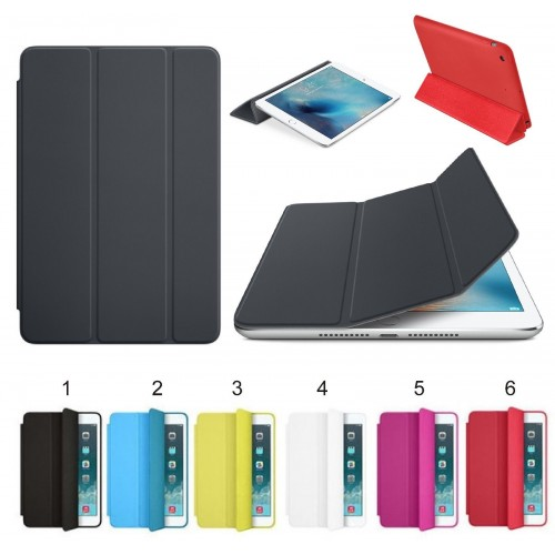 Cover custodia Case cuoio preformato per Apple IPad 1 2 3 4 5 6 mini Pro + vetro