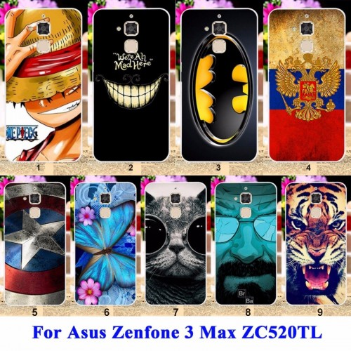 Cover custodia Case farfalle cat tiger batman per Asus Zenfone 3 Max ZC520TL