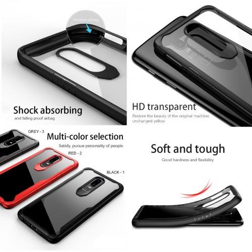 Cover custodia Case gomma soft antiurto hybrid para spigoli per OnePlus 6 5T