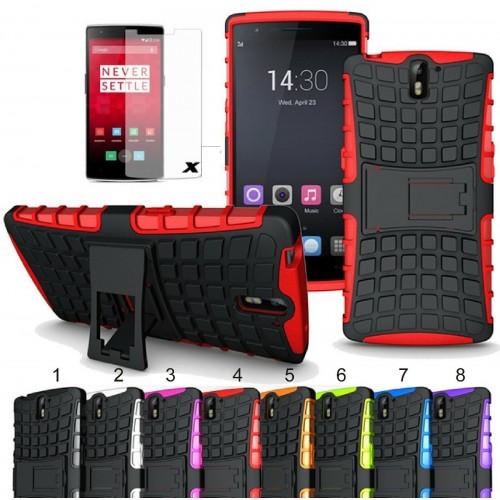 Cover custodia Case in gomma antiurto con cavalletto per OnePlus 6 5 3T 2 1 X