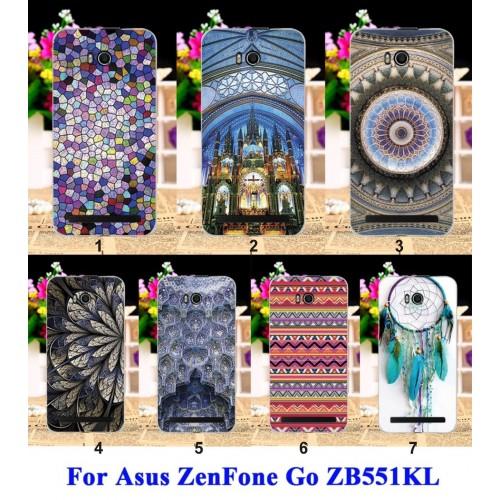 Cover custodia Case in plastica fumetti piume erba per Asus Zenfone GO ZB551KL