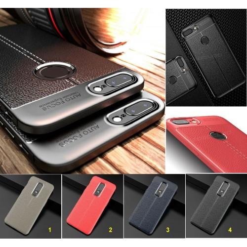 Cover custodia Case in silicone antiurto effetto pelle per OnePlus 6 6T 5 5T