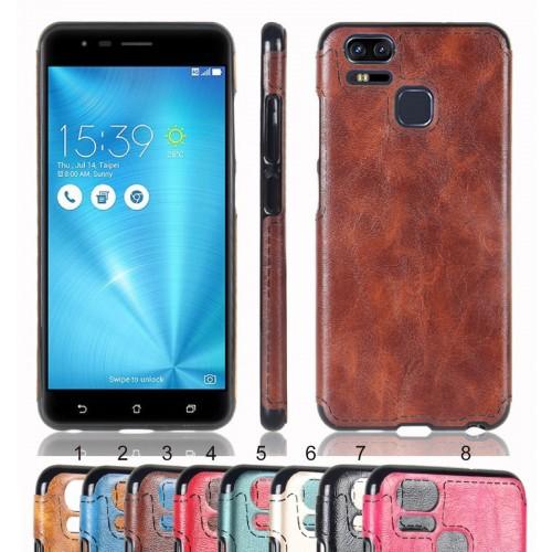 Cover custodia Case in silicone effetto pelle per Asus Zenfone 3 S Zoom ZE553KL