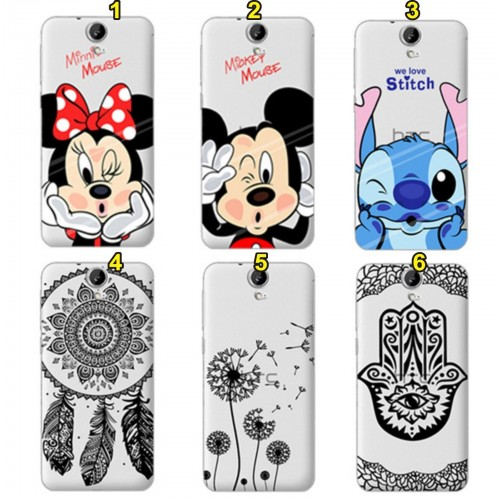 Cover custodia Case in silicone minnie mickey stitch per modelli HTC One M7 M8