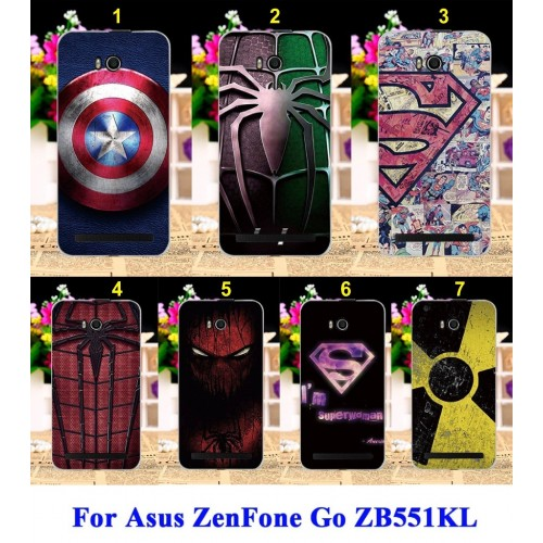 Cover custodia Case plastic spiderman america super per Asus Zenfone GO ZB551KL