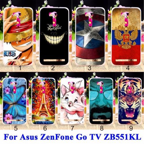 Cover custodia Case plastica cat tiger tour farfalle per Asus Zenfone GO ZB551KL