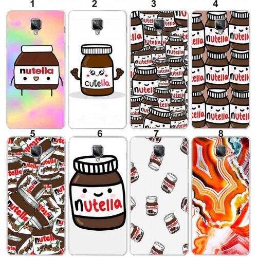 Cover custodia Case plastica cioccolata nutella chocolat per OnePlus 5T 5 3T 3