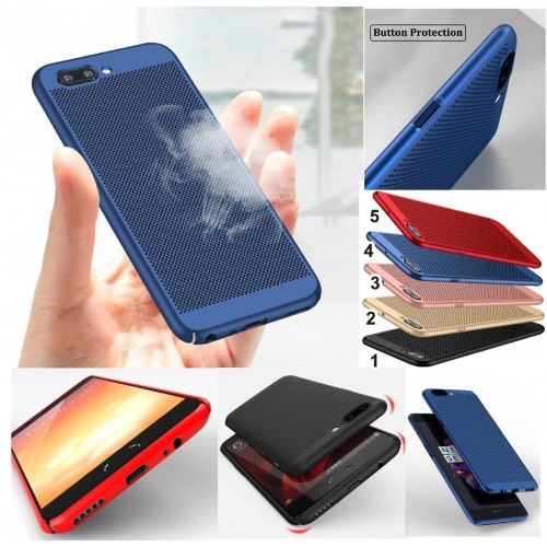 Cover custodia Case plastica paraurti traspirante per modelli OnePlus 5 5T 6