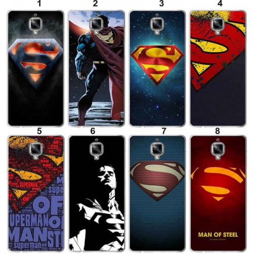 Cover custodia Case plastica superman supereroi cartoni per OnePlus 5T 5 3T 3