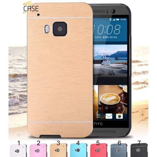 Cover custodia Case protezione in alluminio spazzolato per HTC One M7 M8 M9