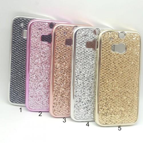 Cover custodia Case protezione silicone bling glitter luxury per HTC One M8 M9