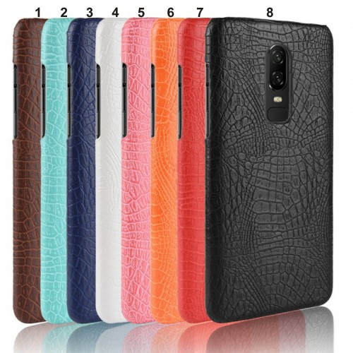 Cover custodia Case rigida effetto pelle di coccodrillo per OnePlus 6 5 5T 3T 3