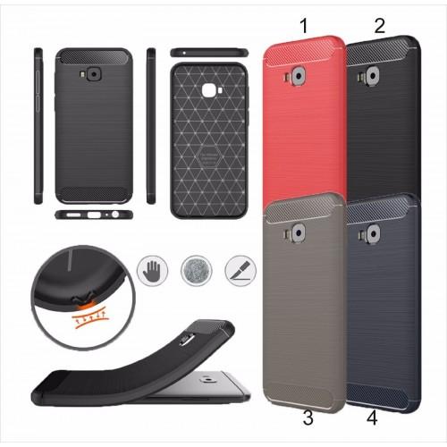Cover custodia Case silicon fibra carbonio per Asus Zenfone 4 selfie PRO ZD552KL