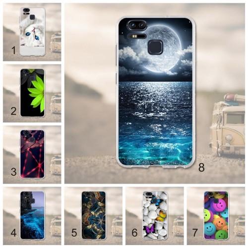 Cover custodia Case silicon fiori farfalle cat per Asus Zenfone 3 S Zoom ZE553KL