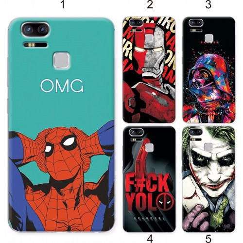 Cover custodia Case silicon spider man cartoon per Asus Zenfone 3 S Zoom ZE553KL