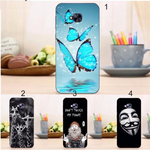 Cover custodia Case silicone 3D farfalle per Asus Zenfone 4 selfie PRO ZD552KL