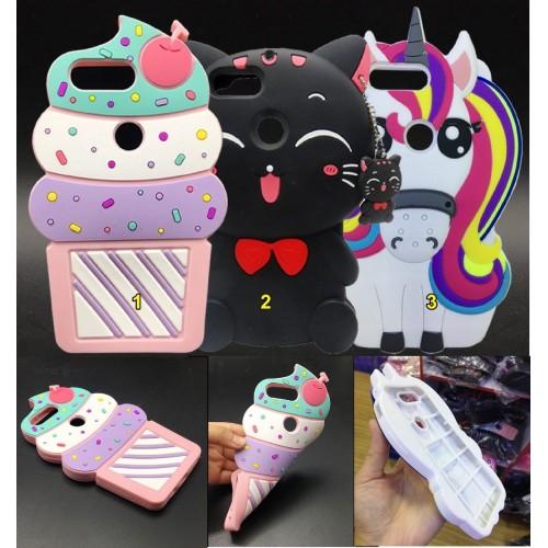 Cover custodia Case silicone 3D unicorno gatto gelato cartoni per OnePlus 5T