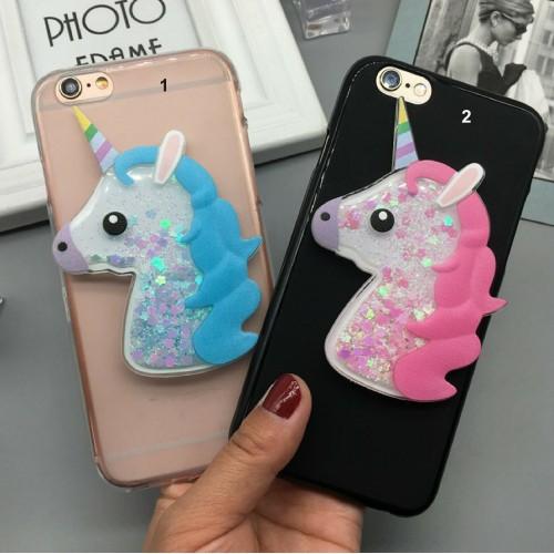 Cover custodia Case silicone 3D unicorno glitter per OnePlus X 7 6 5 3 T 2 1
