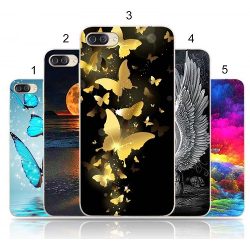 Cover custodia Case silicone angelo farfalle 3D  per Asus Zenfone 4 Max ZC554KL