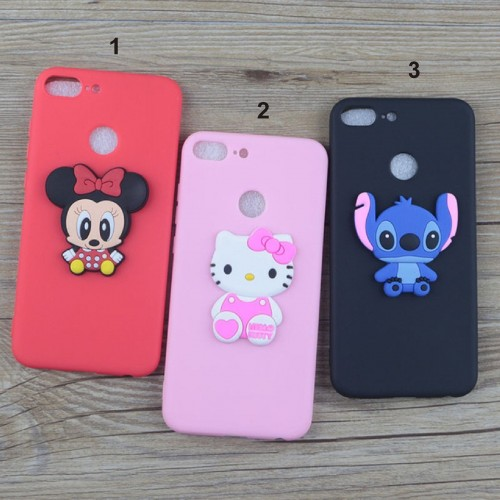 Cover custodia Case silicone cartoni minnie kitty stitch per OnePlus 6 5T 5 3T 3