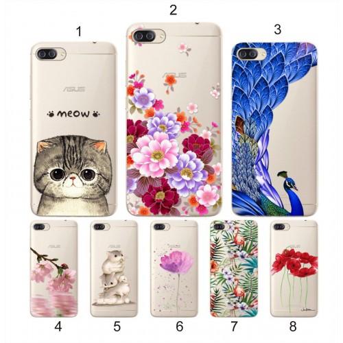 Cover custodia Case silicone cat topolino fiori per Asus Zenfone 4 Max ZC554KL