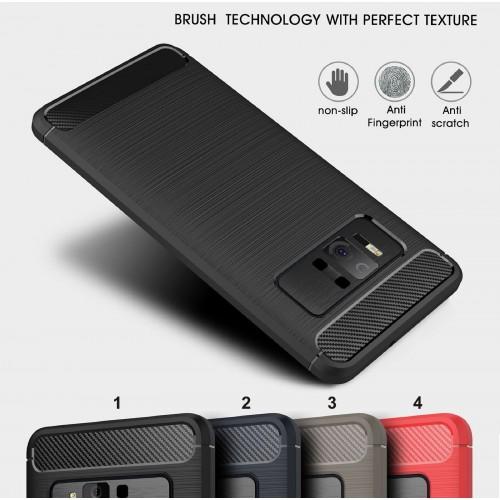 Cover custodia Case silicone con fibra di carbonio per Asus Zenfone AR ZS571KL