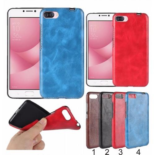 Cover custodia Case silicone cuoio effect pelle per Asus Zenfone 4 Max ZC554KL