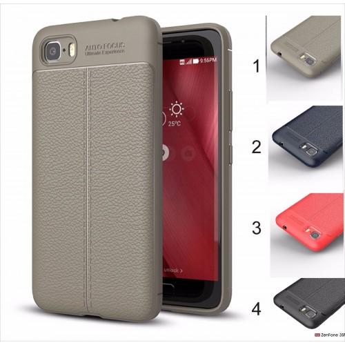 Cover custodia Case silicone effect pelle per Asus Zenfone 3s 4 Max ZC554KL live