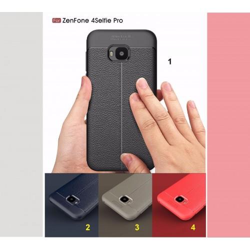 Cover custodia Case silicone effetto pelle per Asus Zenfone 4 selfie PRO ZD552KL