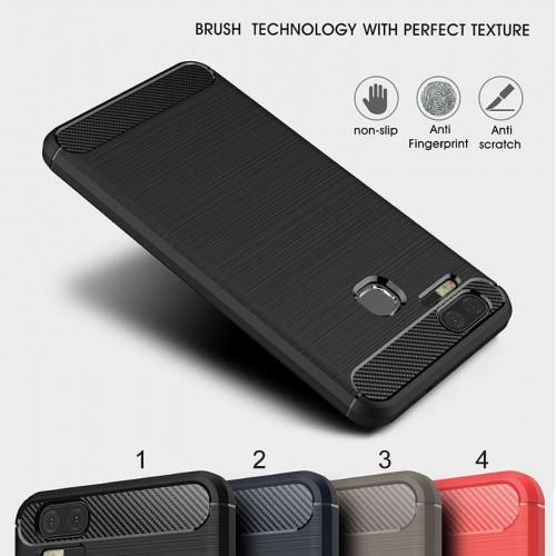 Cover custodia Case silicone fibra di carbonio per Asus Zenfone 3 S Zoom ZE553KL