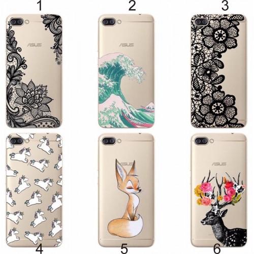 Cover custodia Case silicone fiori animali cat per Asus Zenfone 4 Max ZC554KL