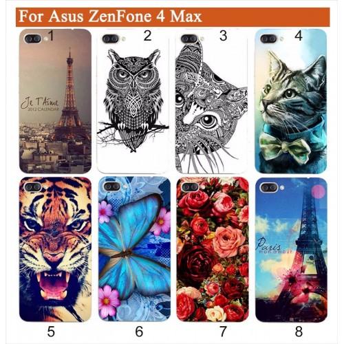 Cover custodia Case silicone fiori cat gufo tour per Asus Zenfone 4 Max ZC554KL