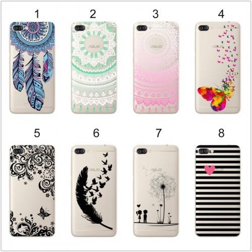 Cover custodia Case silicone fiori hennè farfalle per Asus Zenfone 4 Max ZC554KL