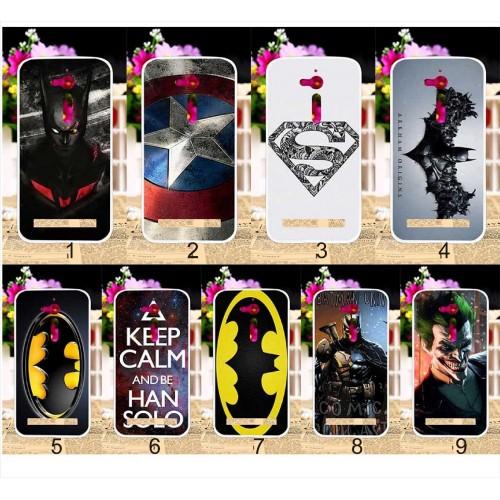 Cover custodia Case silicone fumetti batman superman per Asus Zenfone GO ZB500KL