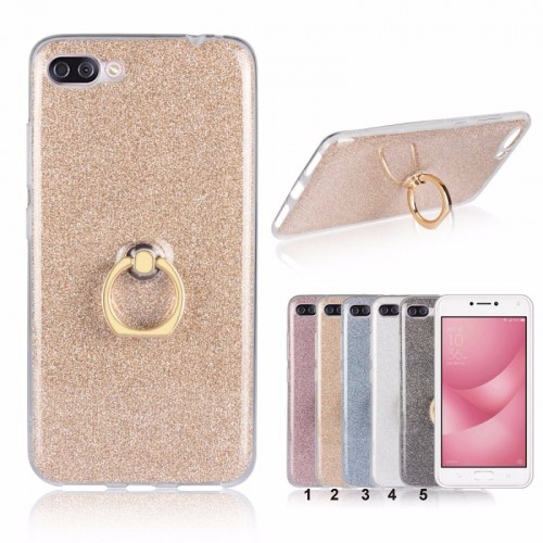 Cover custodia Case silicone glitter con gancio per Asus Zenfone 4 Max ZC554KL